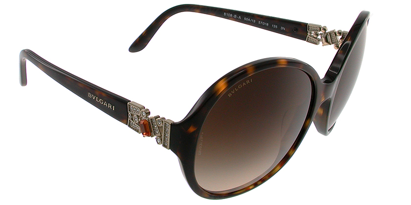 Bvlgari BV8108BA50413 Sunglasses - 45 Degree View