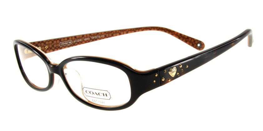 Coach HC748AF215 Eyeglasses - 45 Degree View