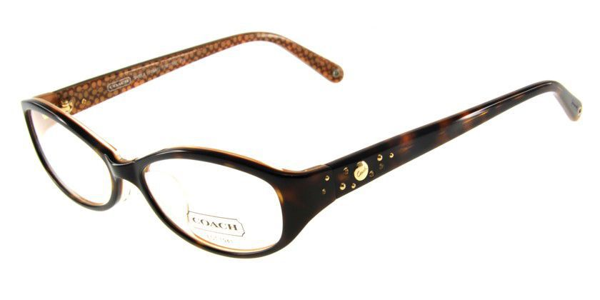 Coach HC749AF215 Eyeglasses - 45 Degree View