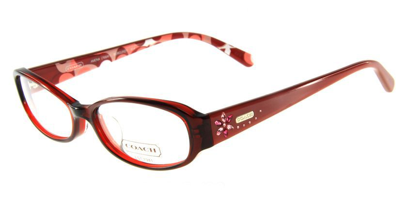 Coach HC766AF614 Eyeglasses - 45 Degree View