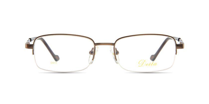 Della D011BROWN Eyeglasses - Front View