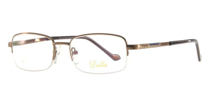 Della D011BROWN Eyeglasses - 45 Degree View