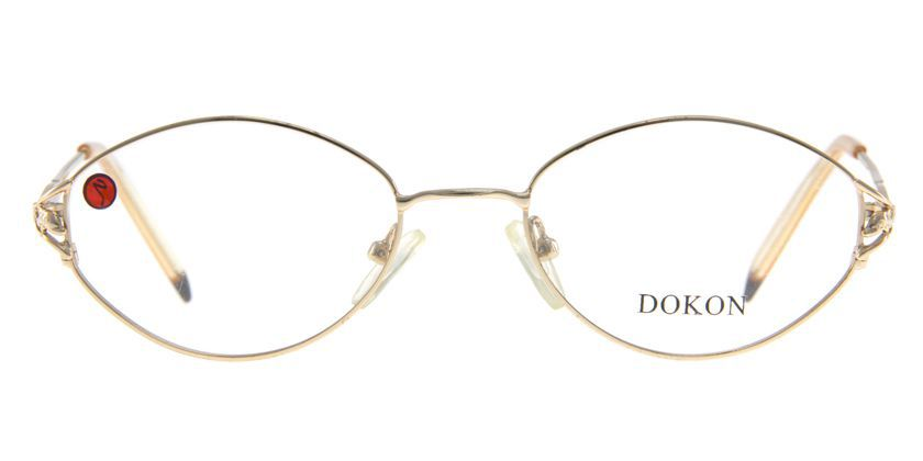 Dokon 2007GOLD Eyeglasses - Front View