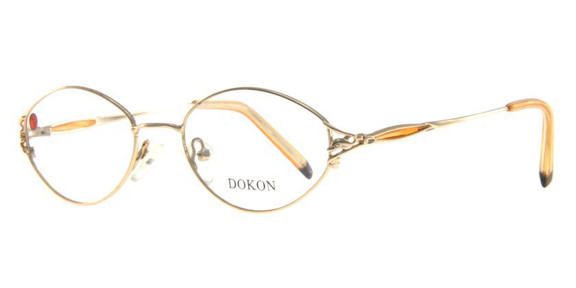 Dokon 2007GOLD Eyeglasses - 45 Degree View