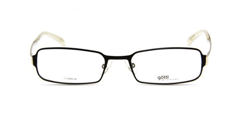 Gotti GTGARYBLKMSBK Eyeglasses - Front View