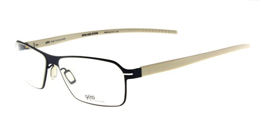 Gotti GTLIAMDVMBK Eyeglasses - 45 Degree View
