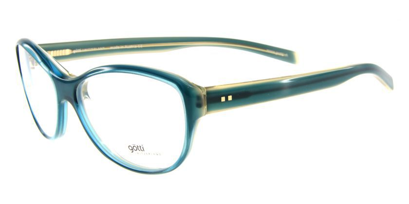 Gotti GTMYRTATRYGN Eyeglasses - 45 Degree View