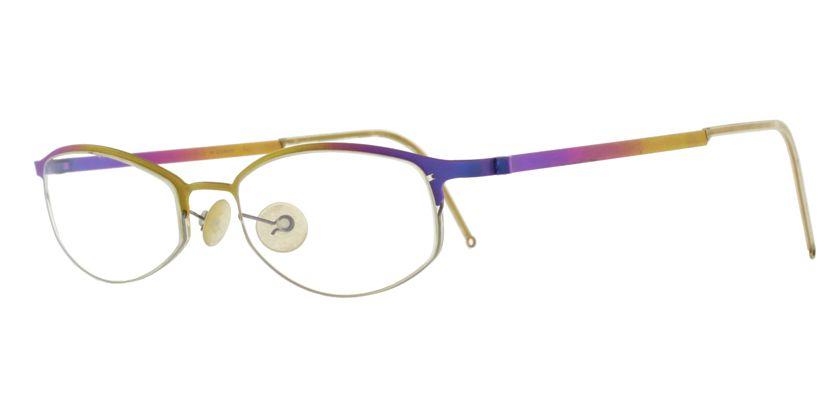 Lindberg STRIP4020 Eyeglasses - 45 Degree View