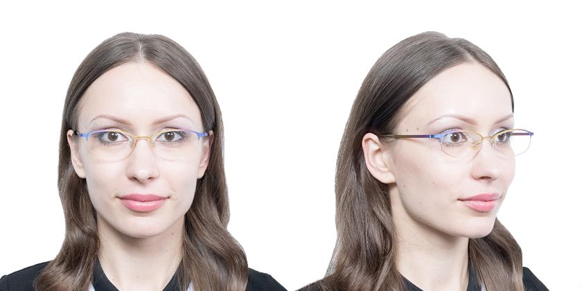 Lindberg STRIP4020 Eyeglasses - Try On View