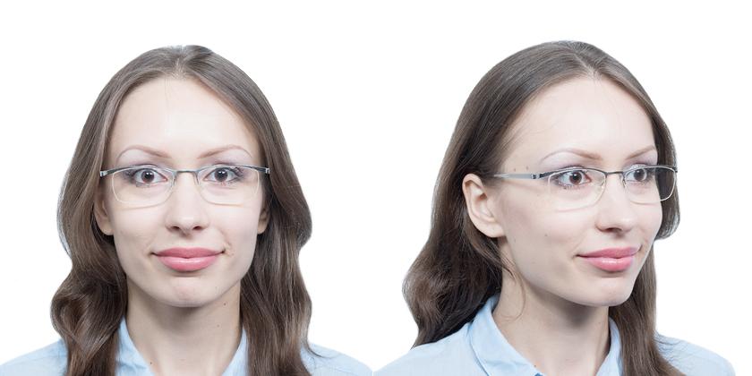 Lindberg STRIP7205P10 Eyeglasses - Try On View