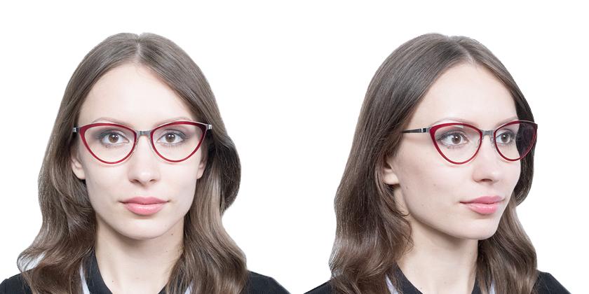 Lindberg STRIP9710P10 Eyeglasses - Try On View